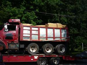 16 foot steel dump truck body bed box tri axle