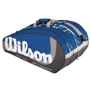 Pro Staff Super Six Tennis Bag   Blue/Grey/Silver