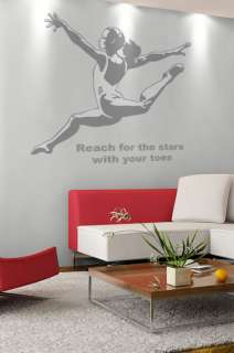 Gymnastics Shadows GIRL GYMNAST Wallpaper Mural Sticker