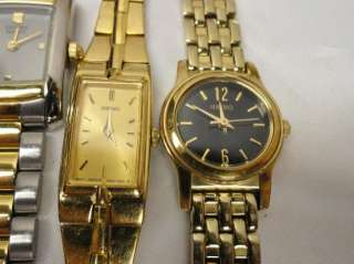 Citizen Relic Fossil Silver Gold Tone Dress WATCH repair LOT