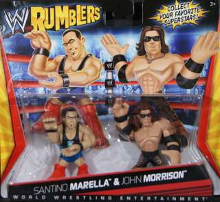 MARELLA & JOHN MORRISON   WWE RUMBLERS TOY WRESTLING ACTION FIGURES