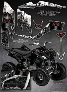 YAMAHA RAPTOR 350 FENDER GRAPHICS THE CALL OF DEATH